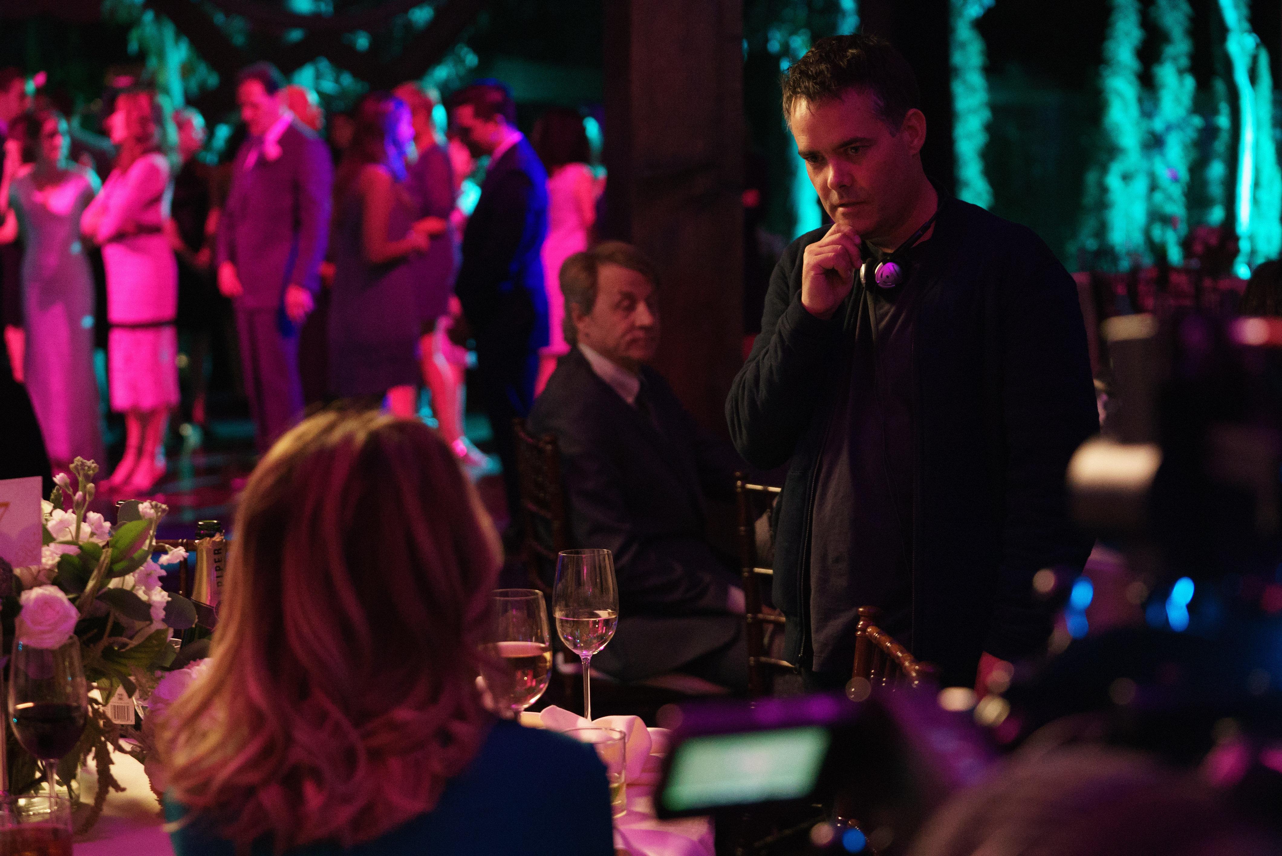 "Director Sebastián Lelio on the set of ""Gloria Bell."""