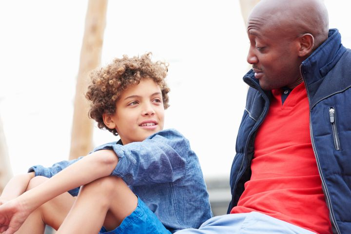 It's helpful for parents to be open about their own mistakes and failures.