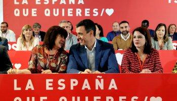 El PSOE aprueba por unanimidad sus listas electorales con el descontento de Susana