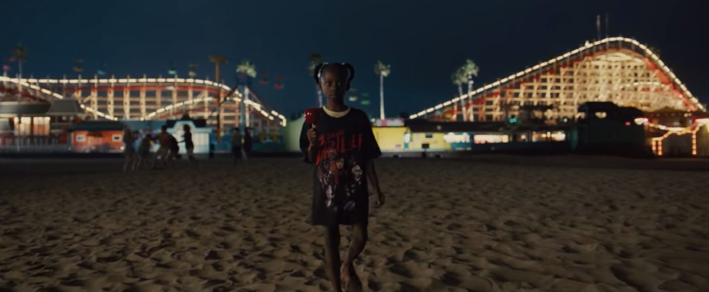 """Young Adelaide wears a shirt of Michael Jackson's """"Thriller"""" in Jordan Peele's """"Us."""""""