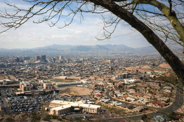 Immigration officials are releasing up to 700 people a day into El Paso, Texas. Ciudad Juárez, Mexico, can be seen in the dis