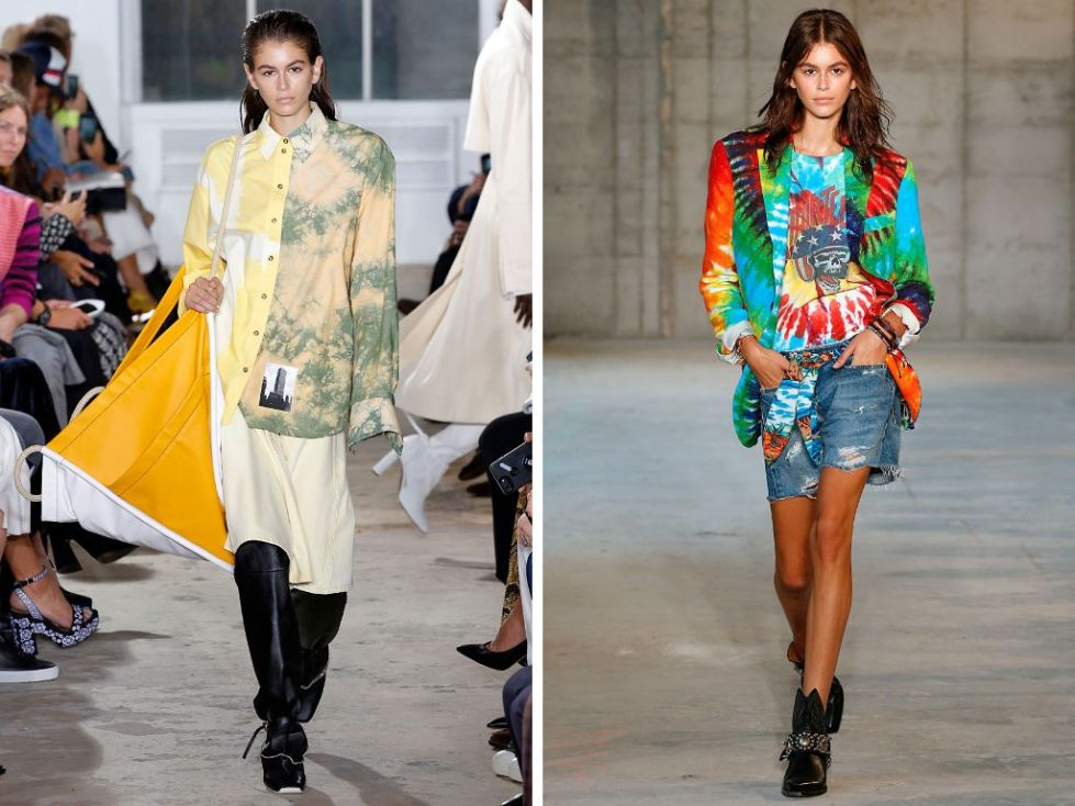 Left: Proenza Schouler spring/summer 2019; right: R13 spring/summer