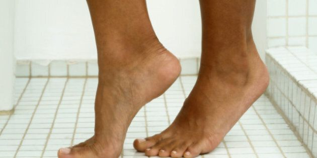 Image result for black people applying ointment on feet