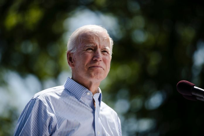 Democratic presidential candidate and former Vice President Joe Biden earned a D-minus climate rating from Greenpeace on Thur