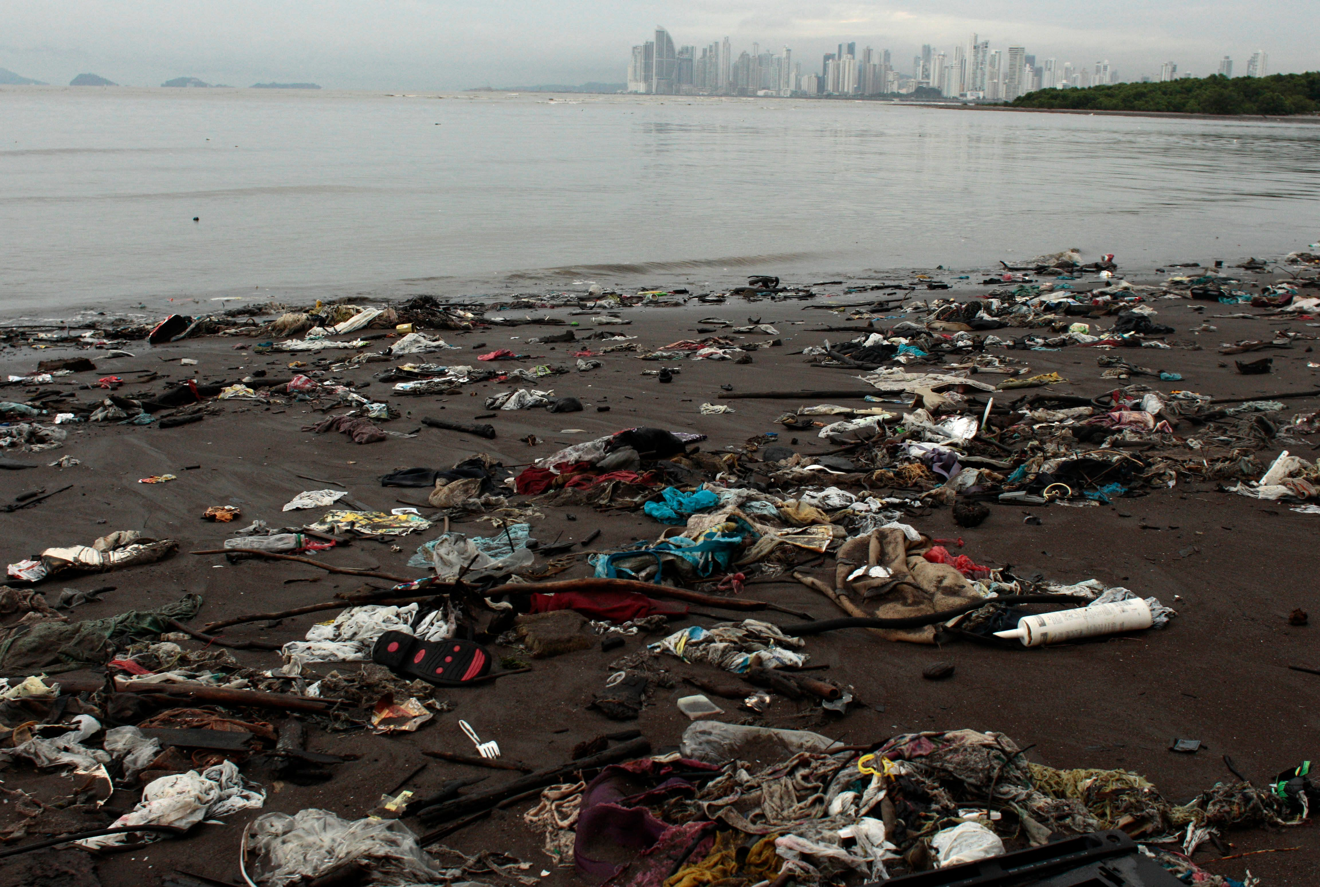 Panama on Saturday became the first Central American nation to ban single-use plastic bags to try to curb pollution. Trash li