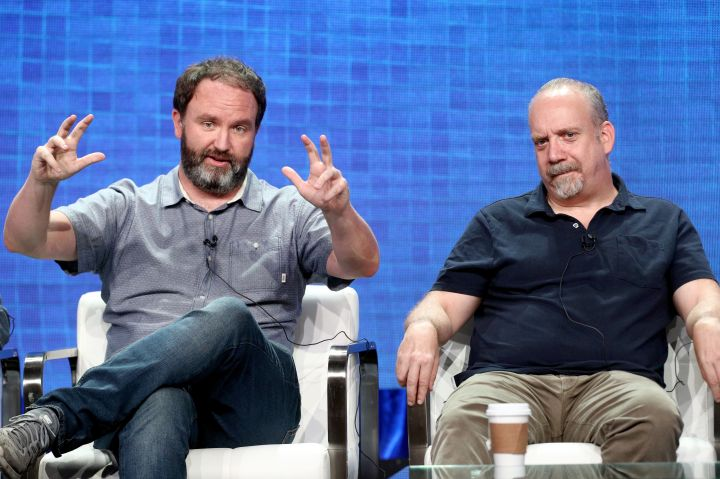 """Jim Gavin (left) and Paul Giamatti, who executive produces """"Lodge 49"""" and has an onscreen role in Season 2"""