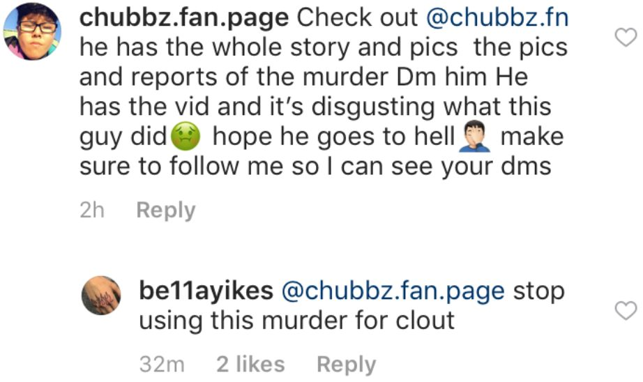 An Instagram scammer tries to capitalize on the murder of a teenage girl.