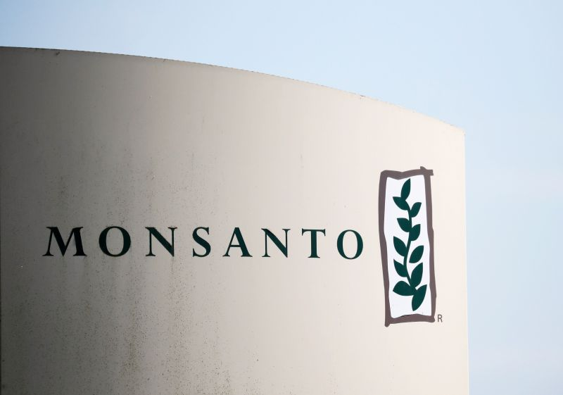 The logo of Monsanto is seen at the Monsanto factory in Peyrehorade, France, August 23, 2019. REUTERS/Stephane Mahe