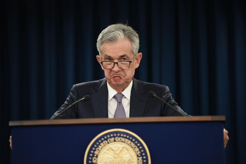 WASHINGTON, DC - SEPTEMBER 18: Federal Reserve Board Chairman Jerome Powell speaks during a news conference after a Federal Open Market Committee (FOMC) meeting on September 18, 2019 in Washington, DC. (Photo by Chen Mengtong/China News Service/VCG via Getty Images)