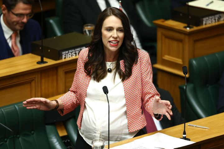 Prime Minister Jacinda Ardern speaks to Parliament during the 2018 budget presentation on May 17, 2018, in Wellington, New Zealand.