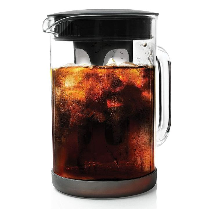 """<a href=""""https://amzn.to/2nlumCg"""" target=""""_blank"""" rel=""""noopener noreferrer"""">I use an immersion brewer pitcher because it&rsquo;s fast</a>&nbsp;and easy to use."""