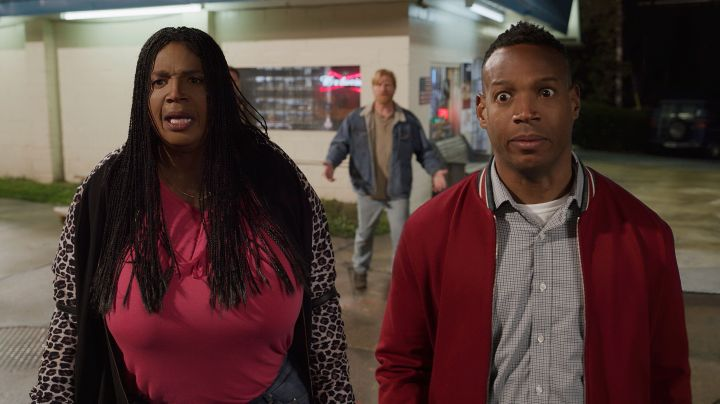 "Marlon Wayans playing two characters in ""Sextuplets."""