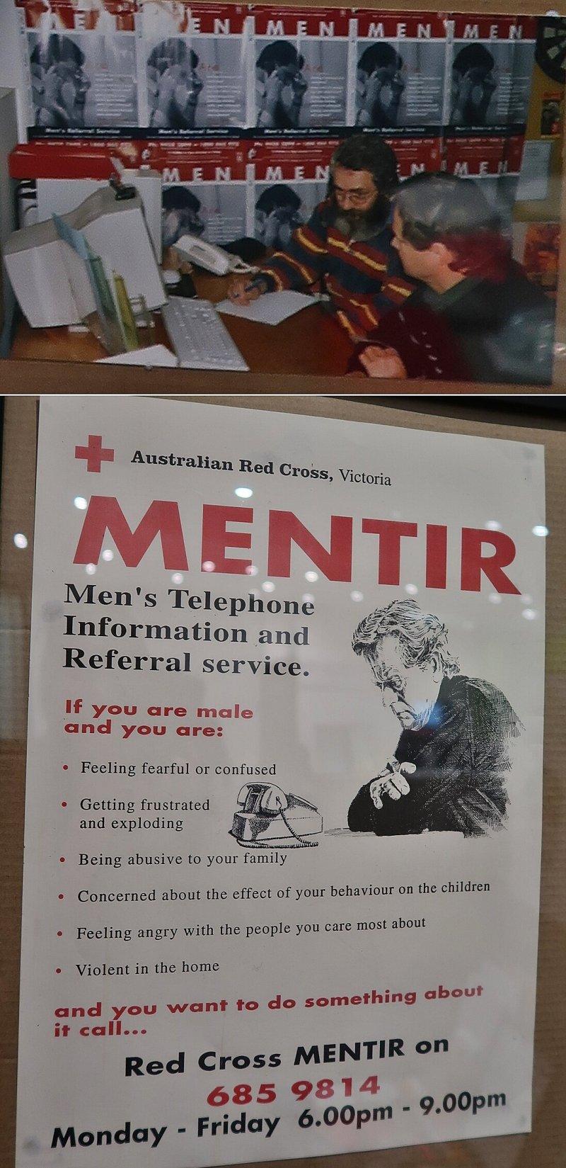 초기 상담실 모습. 전화를 걸어온 남성들이 더 솔직한 이야기를 털어놓도록 한때 남성 상담원들만이 전화를 받았지만, 몇해 전부터 여성 상담원들도 함께 전화를 받고 있다.