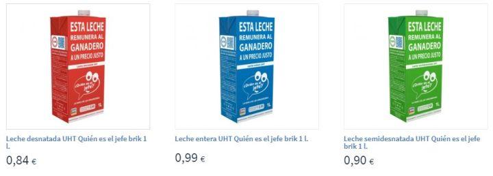 Leche de ¿Quién es el jefe? en la página web de Carrefour.