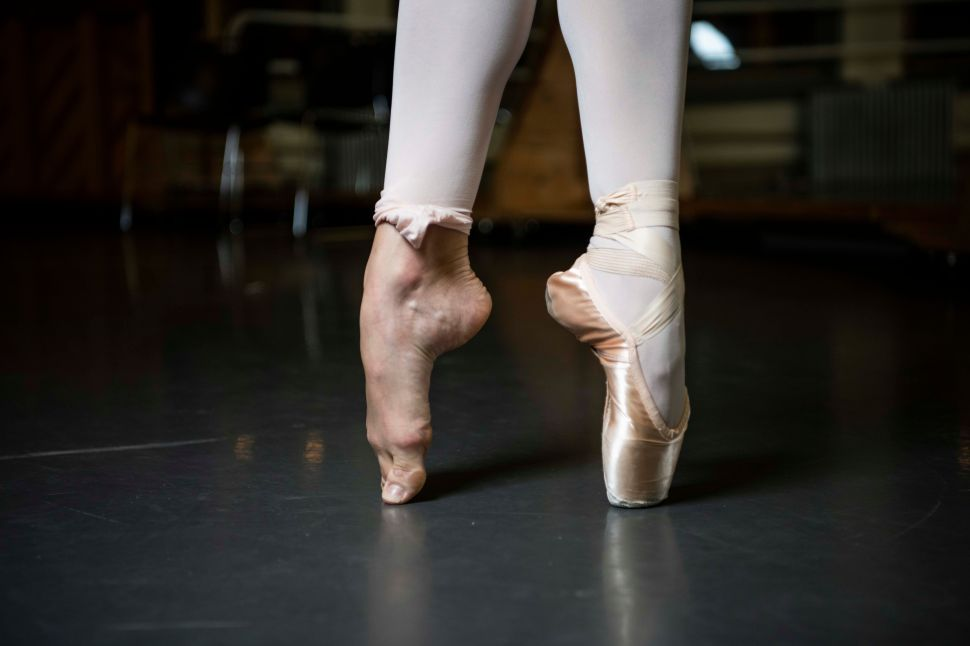 Teuscher may go through one to two pairs of pointe shoes per performance.