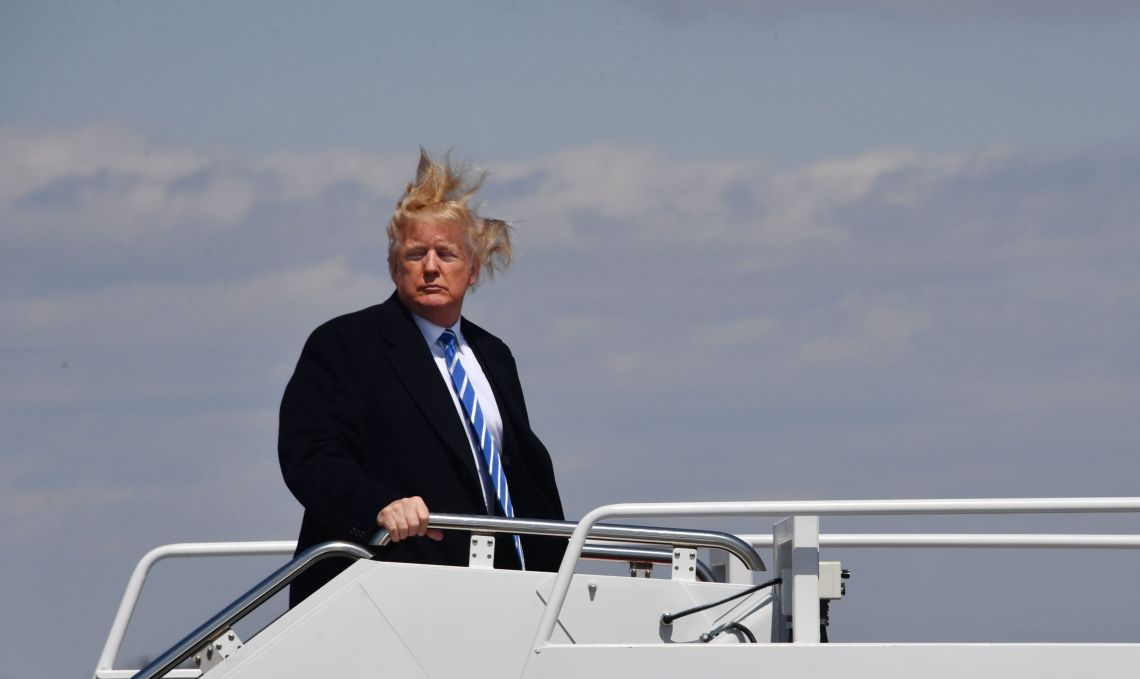 Trump, raging against the winds.