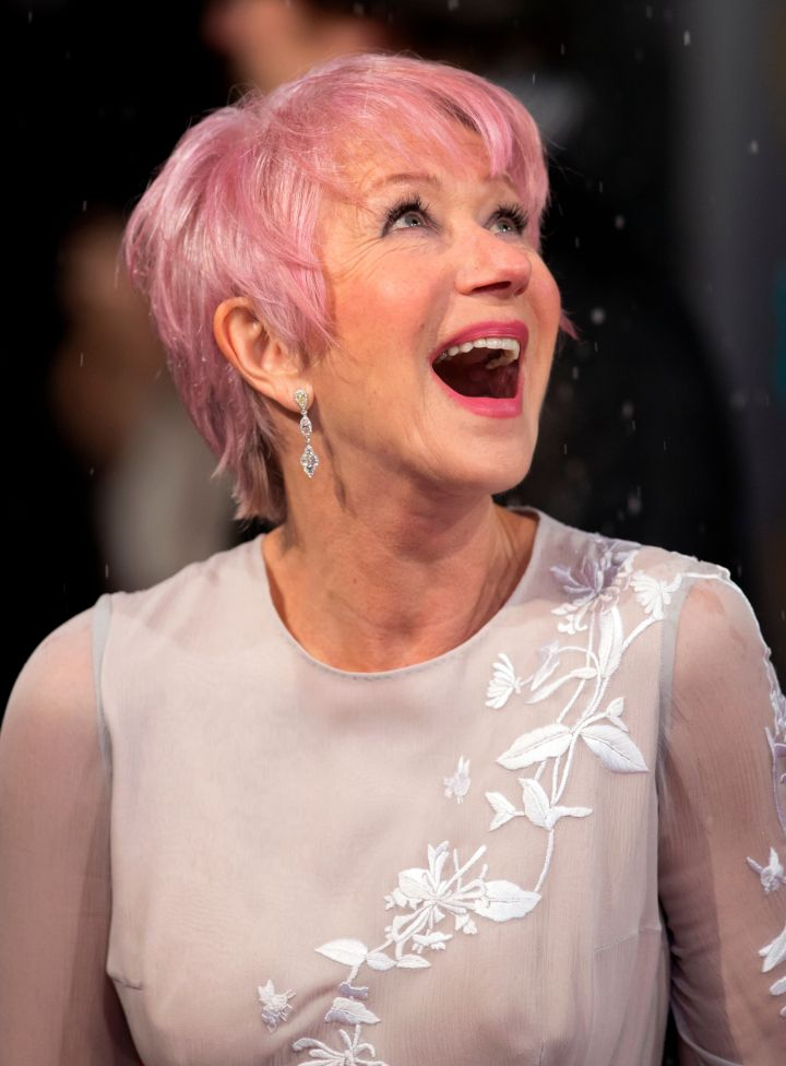 Helen Mirren at BAFTA in London on February 10th 2013.