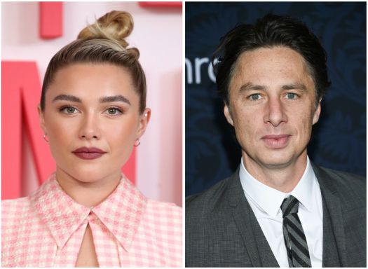 Florence Pugh Offers A Theory For Why Her Relationship With Zach Braff 'Bugs People' 2