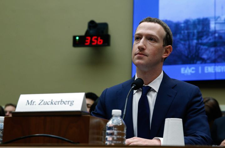 Facebook CEO Mark Zuckerberg contends that his company doesn't sell user data and that it should be exempt from the new law.
