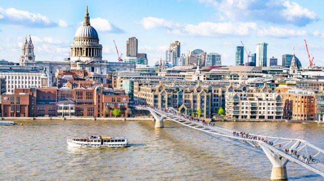 London is a very large city, but it has excellent public transit.