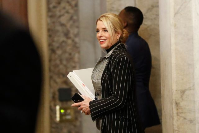 Former Florida Attorney General Pam Bondi, a member of President Donald Trump's defense team, arrives at the Capitol last Thu