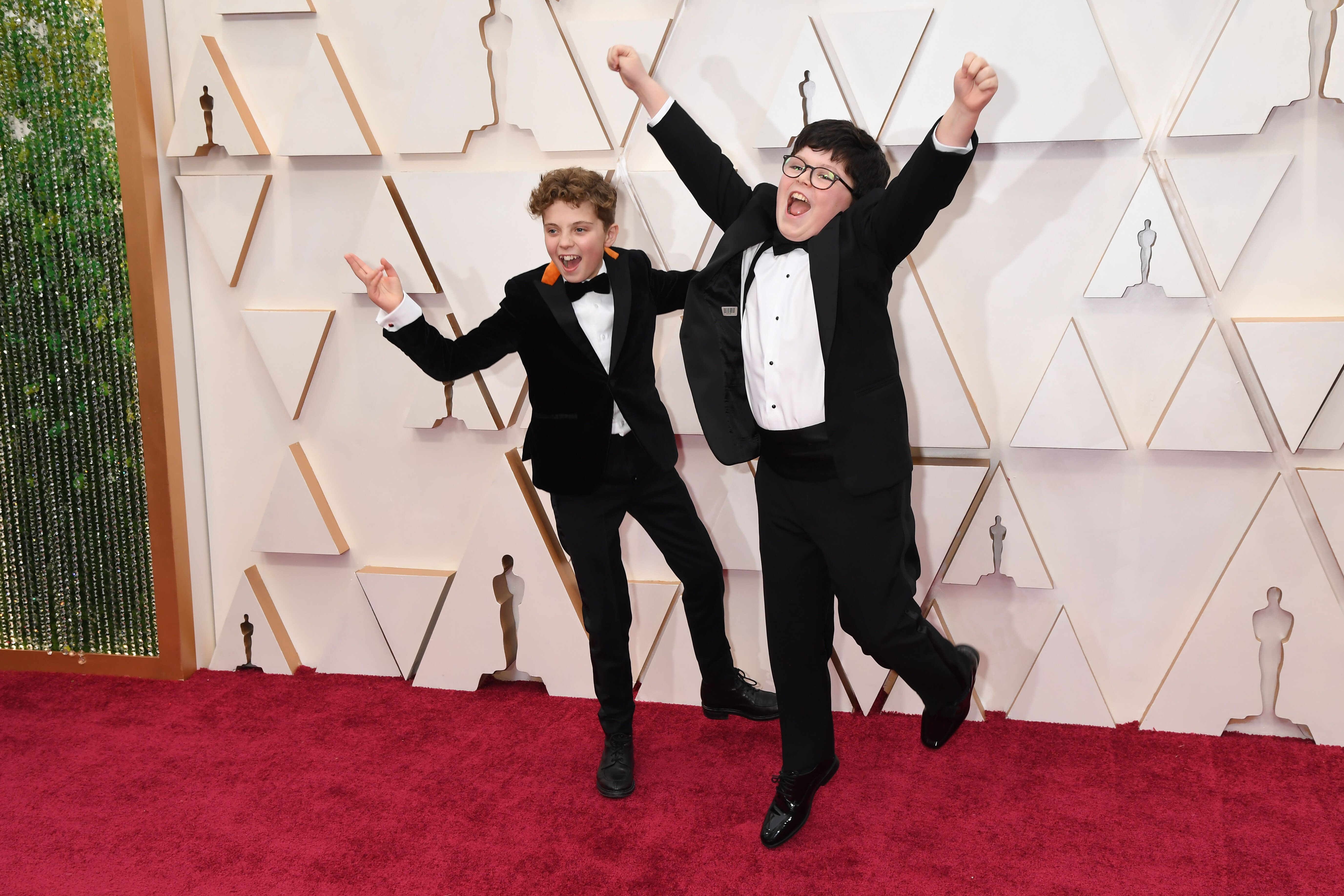 Roman Griffin Davis and Archie Yates at the Oscars.