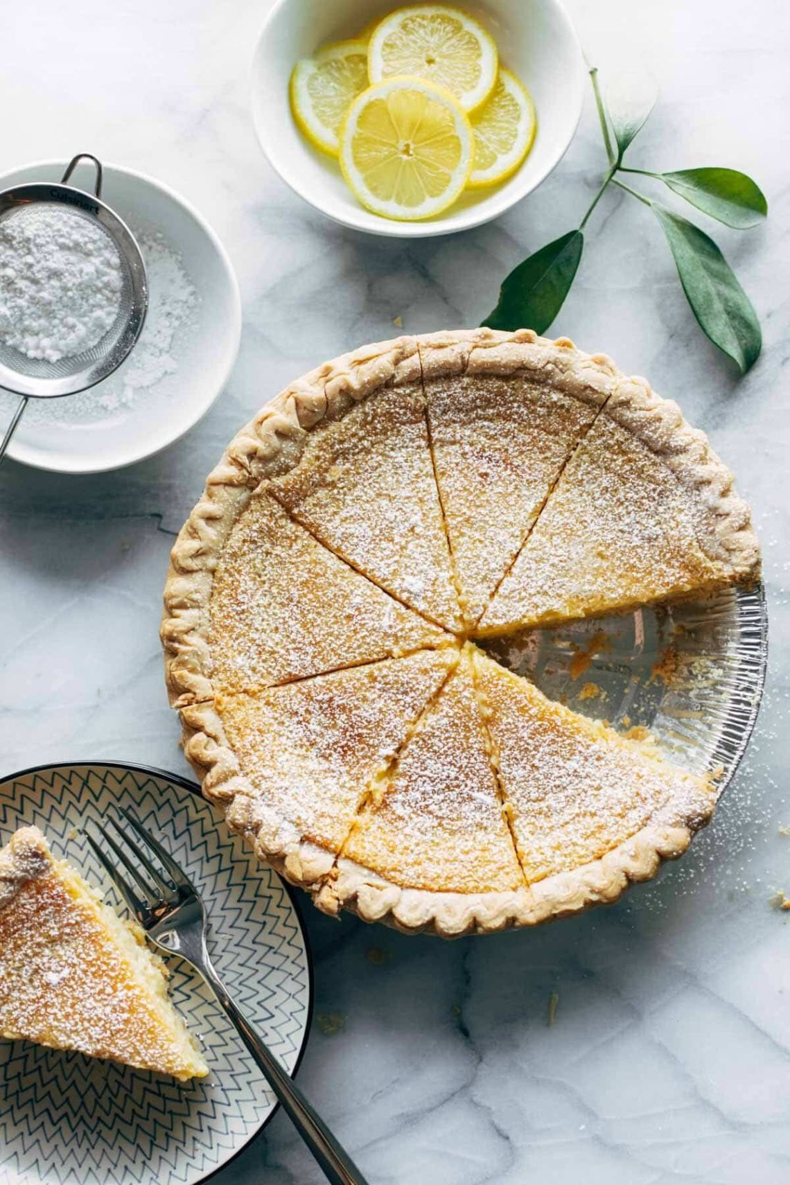 Get the Blender Lemon Pie recipe from Pinch of Yum