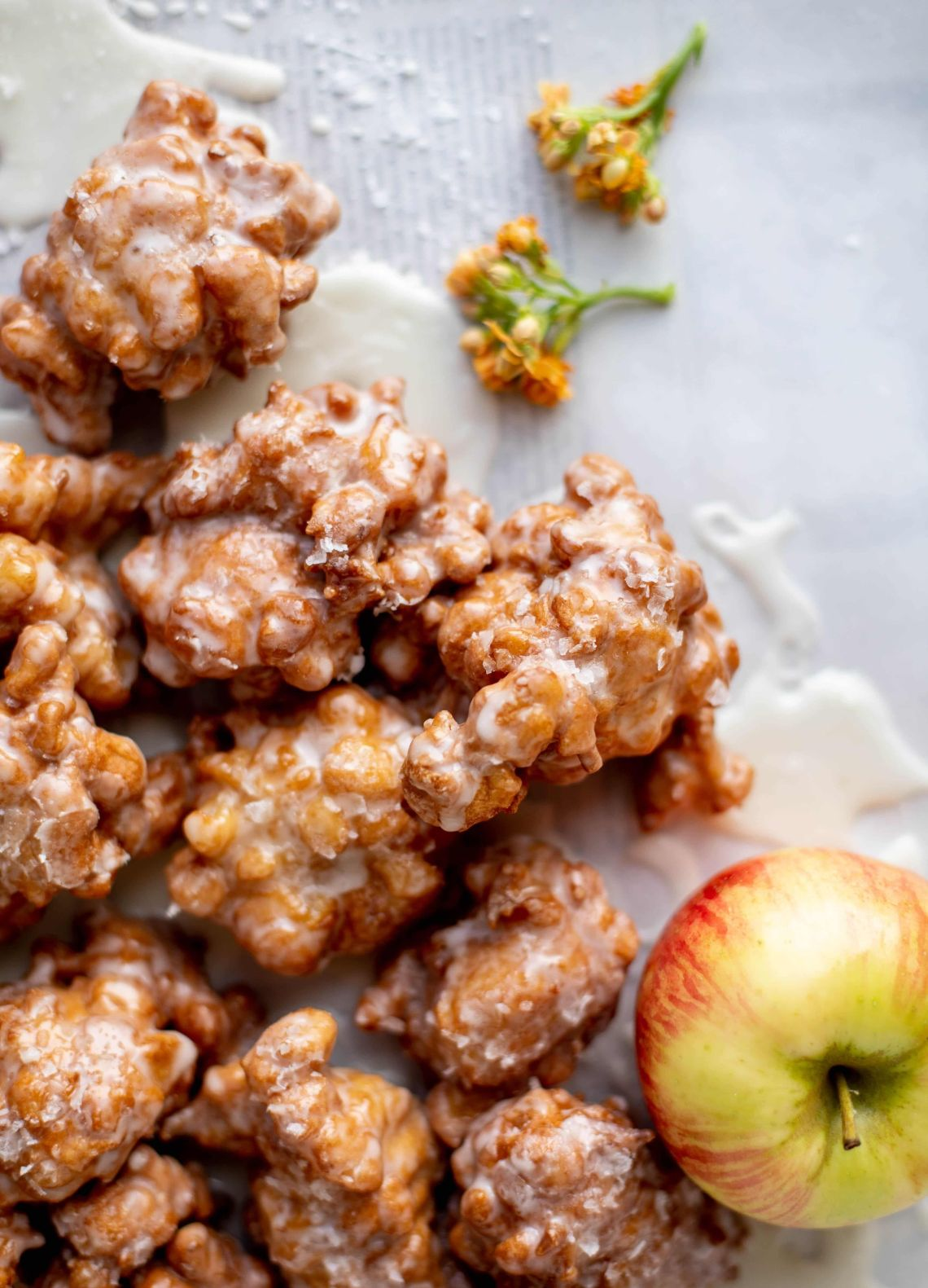 Get the Salted Honeycrisp Fritters recipe from How Sweet Eats