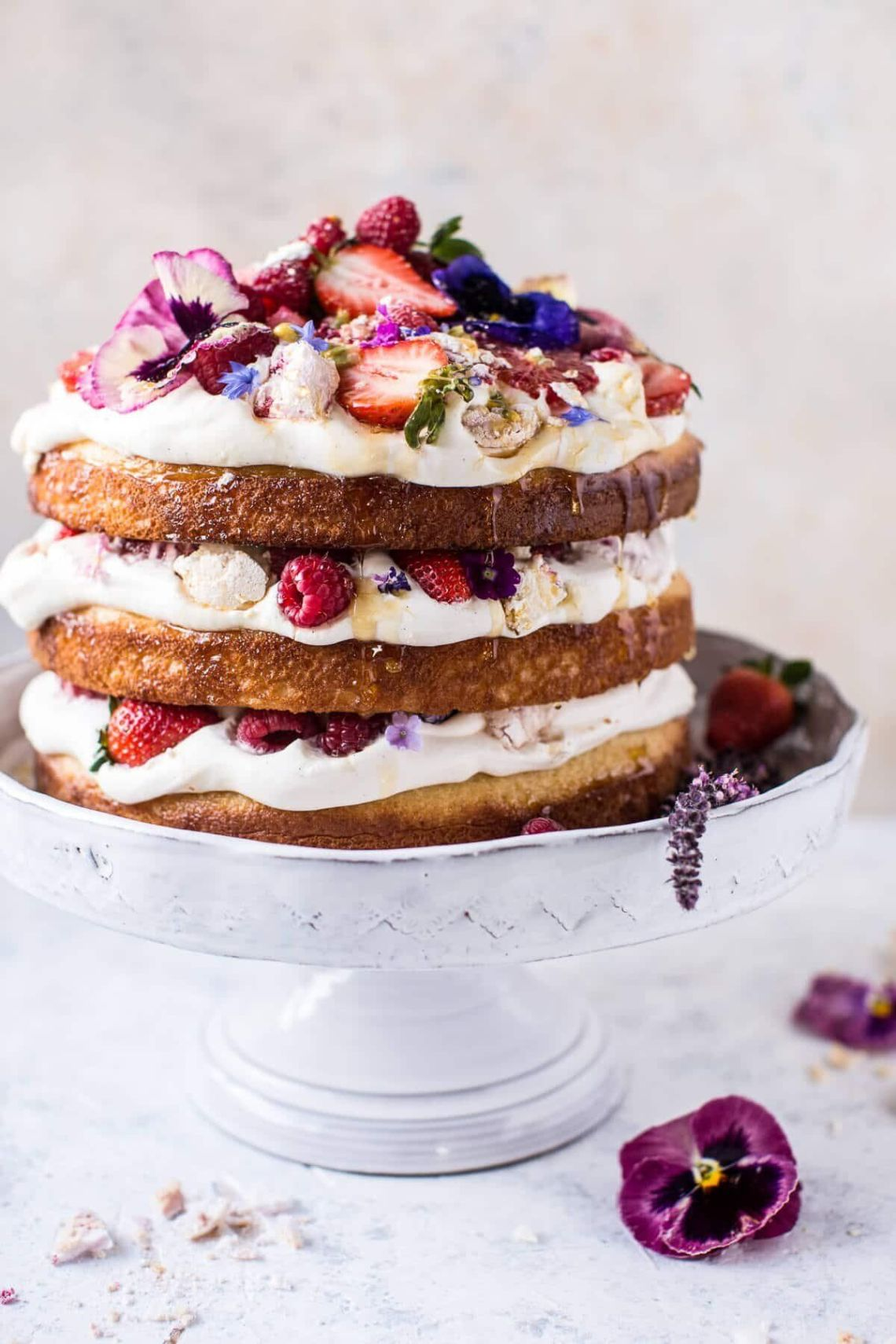 Get the Coconut Eton Mess Cake With Whipped Ricotta Cream recipe from Half Baked Harvest