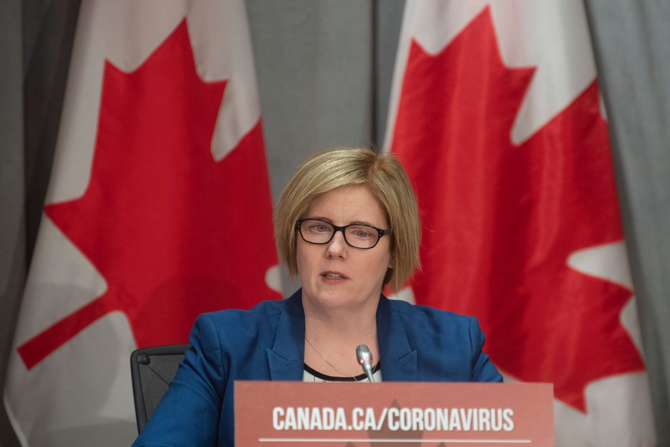 Employment, Workforce Development and Disability Inclusion Minister Carla Qualtrough at a news conference in Ottawa, Thurs. March 26, 2020. Qualtrough has suggested the new CERB could be the new normal for how Canada delivers income support.