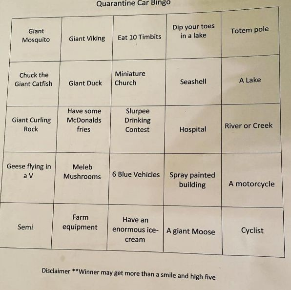 HuffPost Parents reader Amy shared this creative game of car bingo, which she plays with her kids.