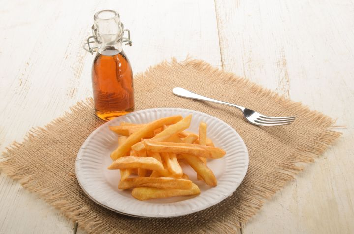 Malt vinegar is the perfect addition to French fries.