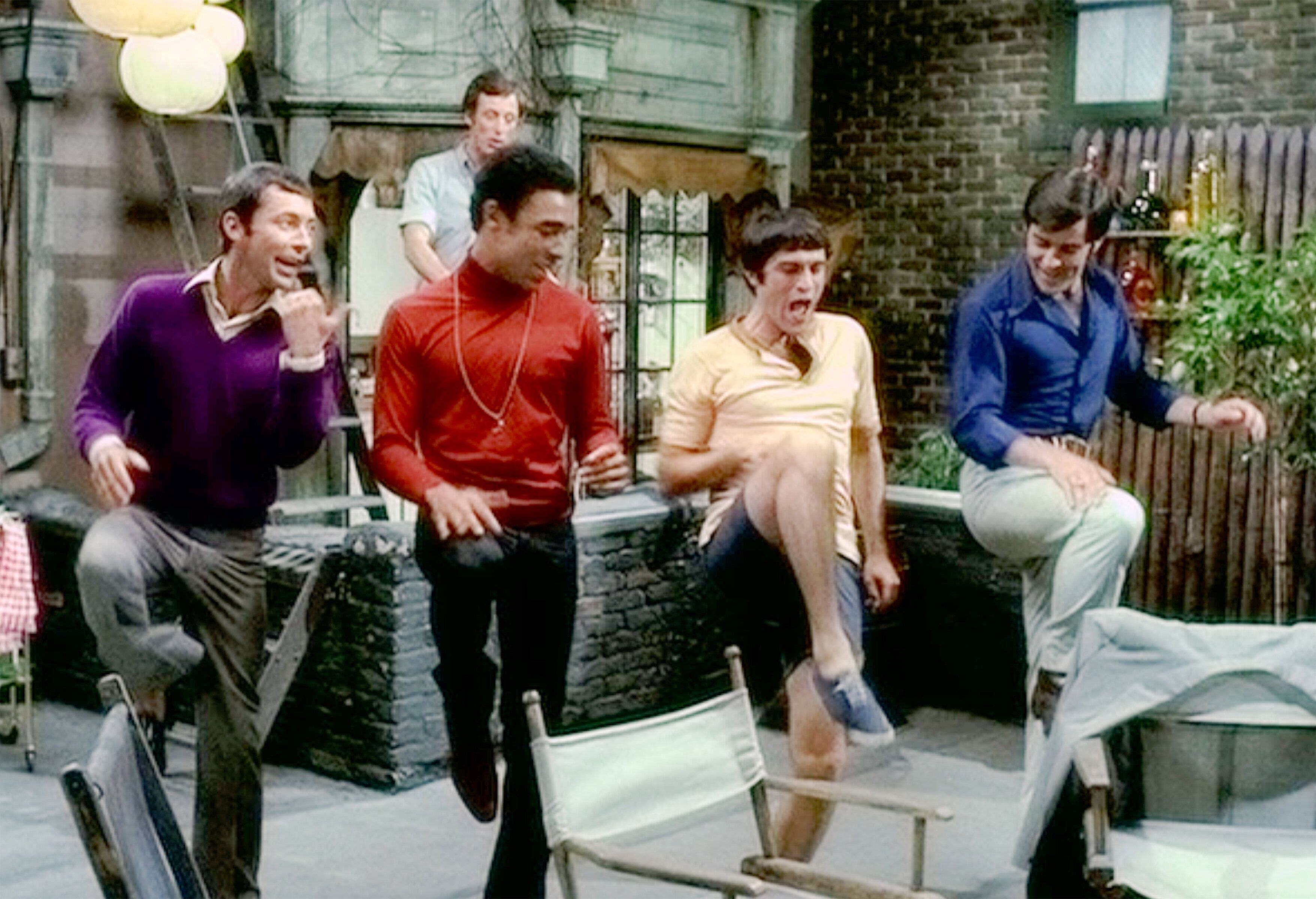 """From left: Kenneth Nelson, Reuben Greene, Cliff Gorman, Keith Prentice and Frederick Combs in """"The Boys in the Band."""""""