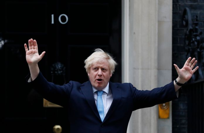 Britain's Prime Minister Boris Johnson has faced widespread criticism over his government's response to the pandemic, which s