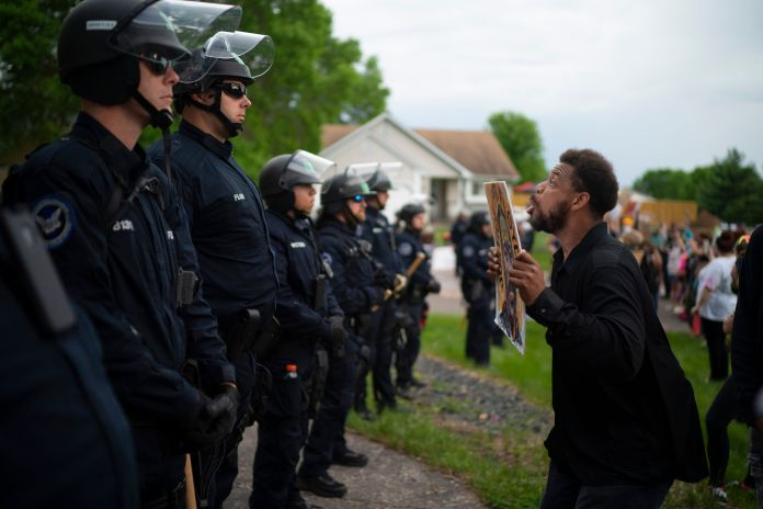 Protests in the Minneapolis area sparked by the death of George Floyd included one Wednesday evening...