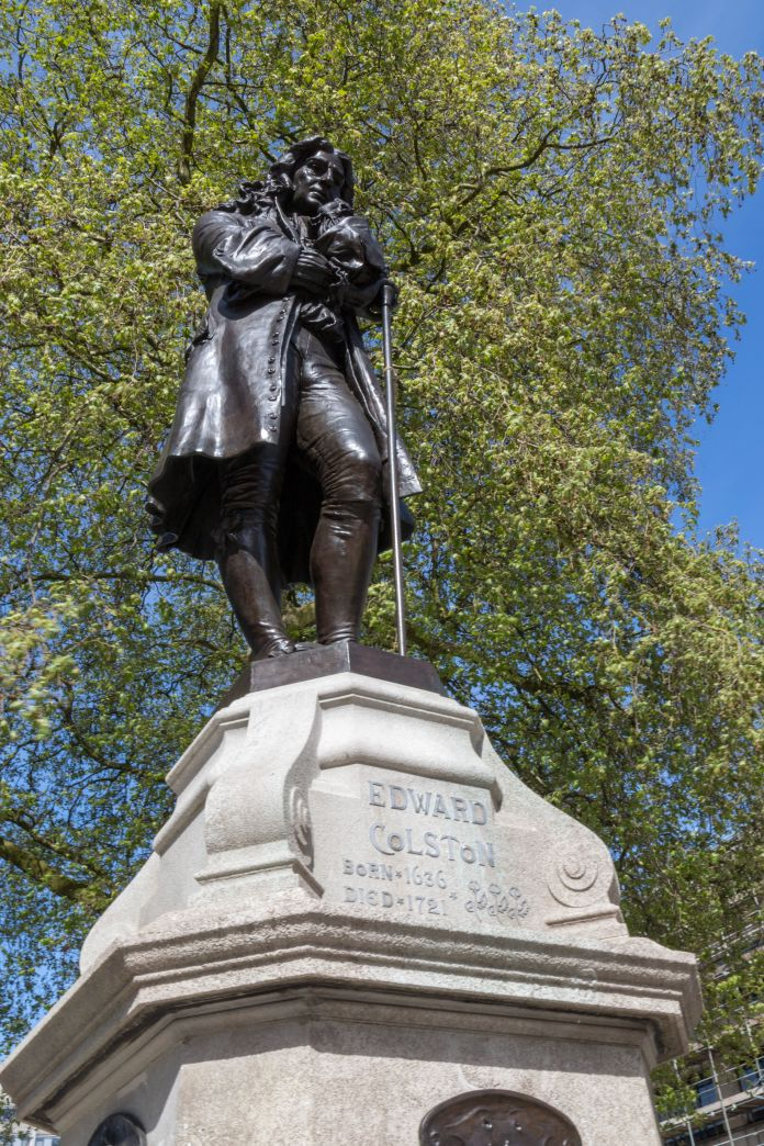 <strong>The statue of Edward Colston before today.</strong>