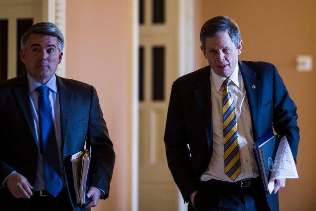 Cory Gardner Sen. Cory Gardner (L) and Sen. Steve Daines (R) face tough roads to reelection in 2020.