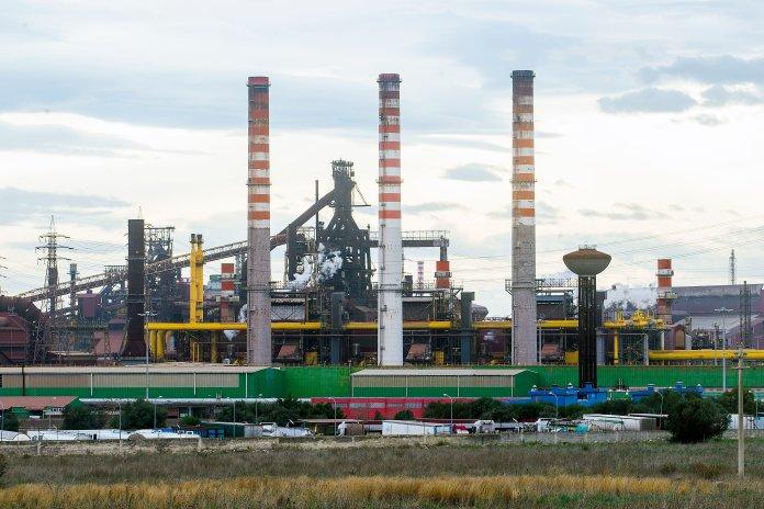 TARANTO, ITALY - APRIL 05: General views of Ilva plant on April 05, 2020 in Taranto, Italy. (Photo by ...