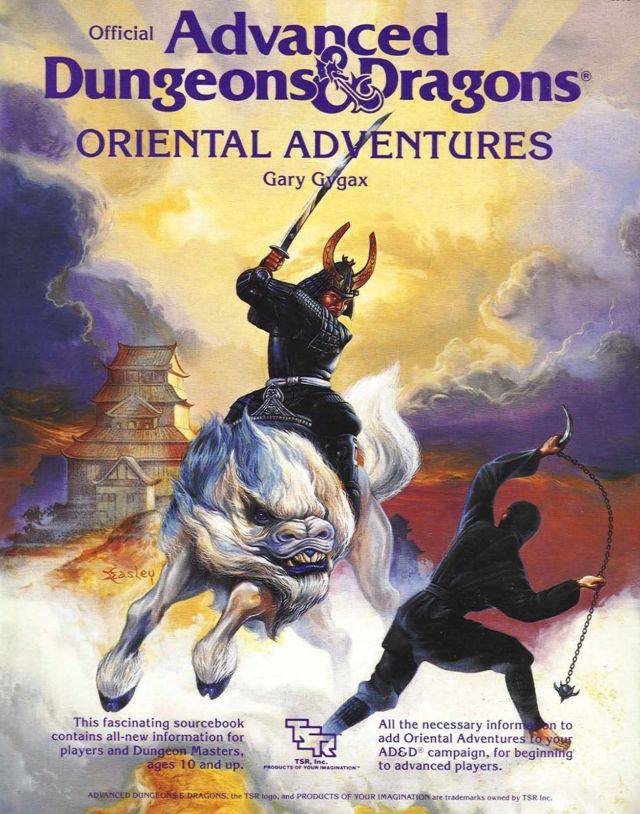 "The cover of the D&D ""Oriental Adventures"" supplement, first released in 1985."
