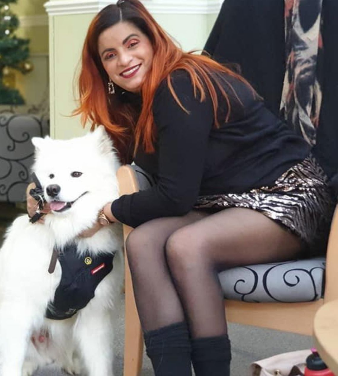 Sunita Thind with her dog Ghost.