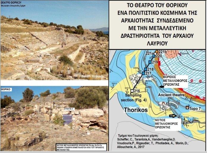 Εικ.4. Πάνω αριστερά, το αρχαίο θέατρο του Θορικού (6ος-4ος αι. π. Χ.), το οποίο θεωρείται ως το αρχαιότερο...