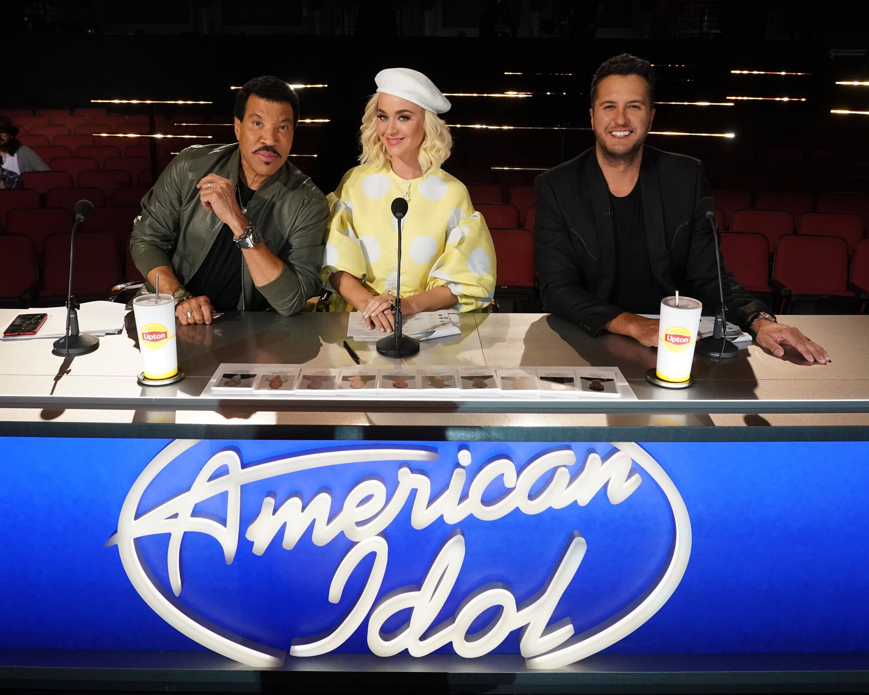 "Bryan sits at the ""American Idol"" judges' table alongside Lionel Richie and Katy Perry."
