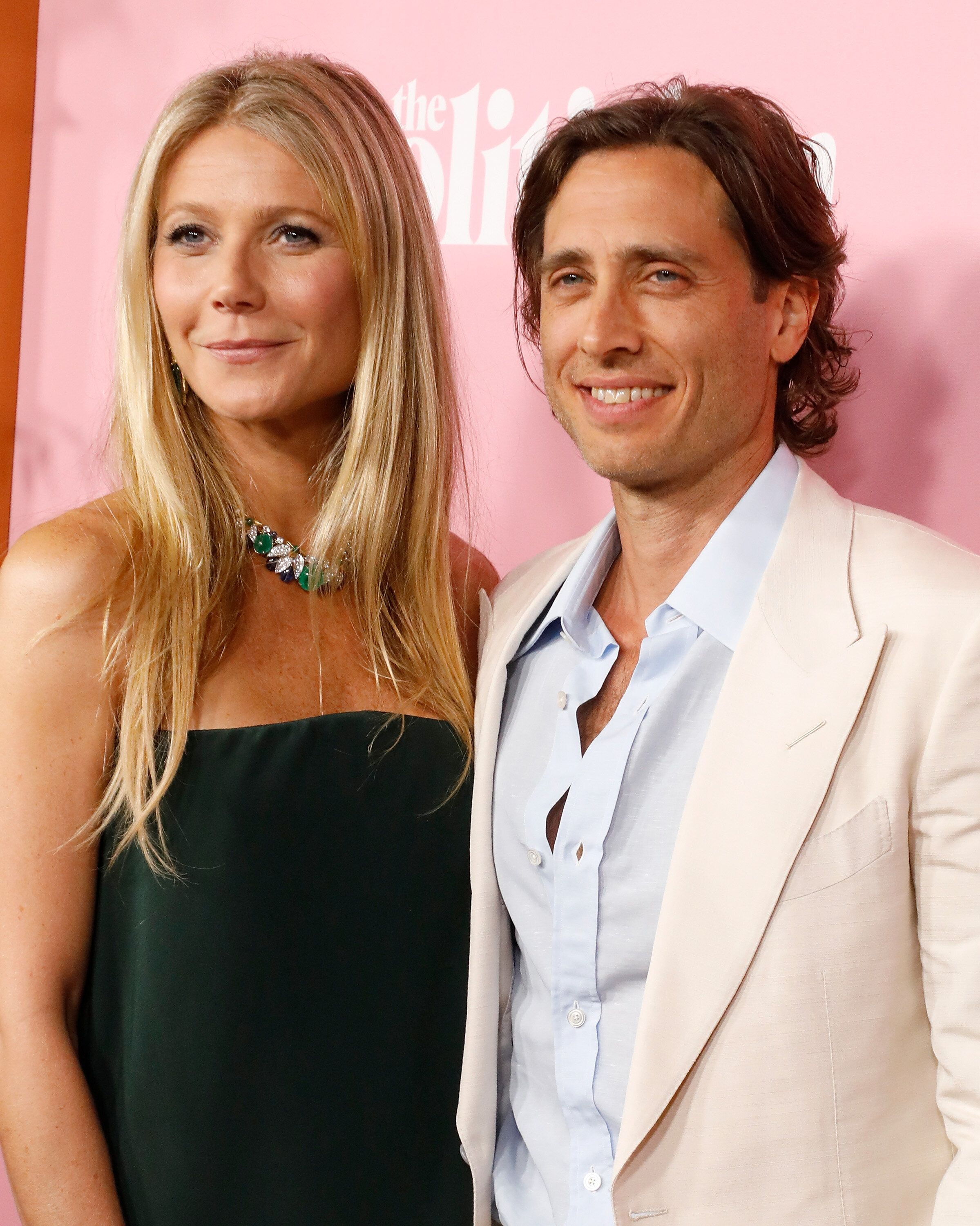 "Paltrow and her second husband, Brad Falchuk, attend the premiere of Netflix's ""The Politician"" at DGA Theater on Sep. 26, 20"