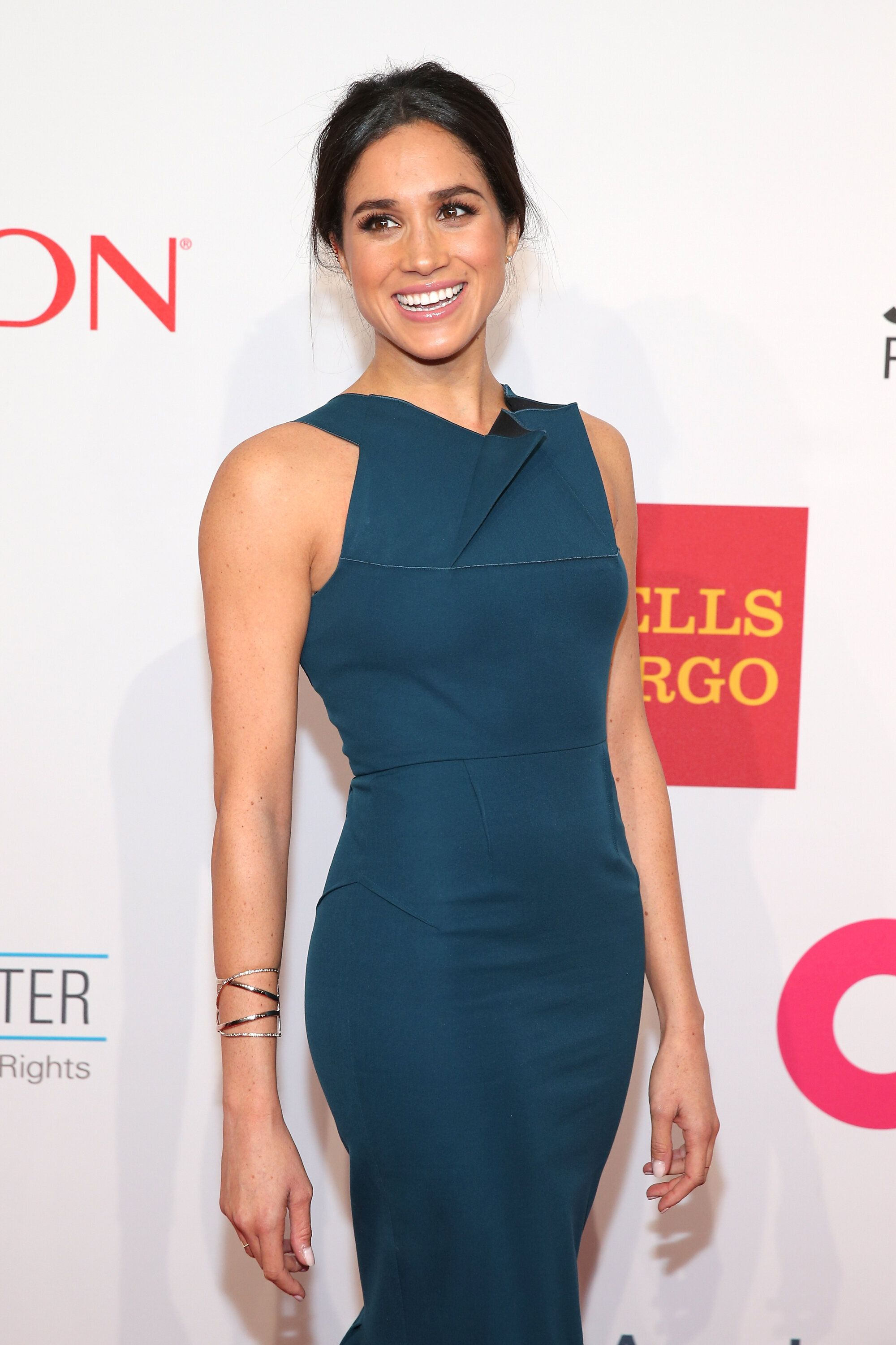 Meghan attends the Elton John AIDS Foundation benefit at Cipriani Wall Street on Oct. 28, 2014, in New York City.