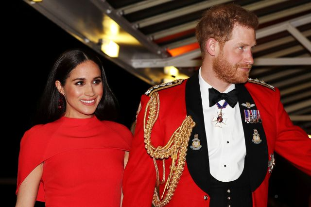 Meghan and Harry at one of their last engagements as working royals this March.