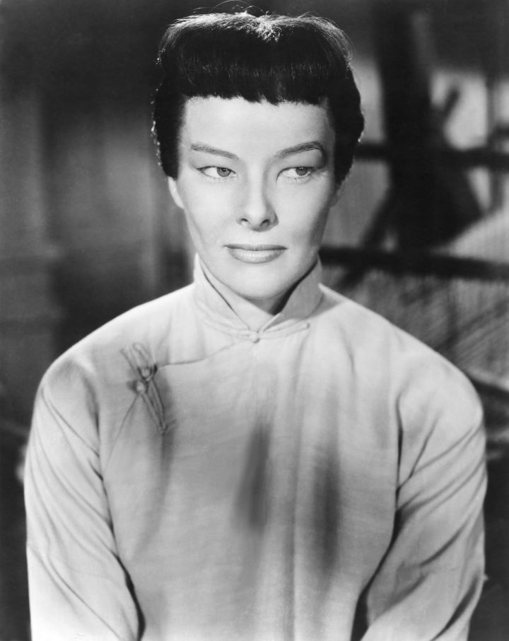 """1944's """"Dragon Seed"""" is a prime example of Hollywood's use of yellowface. Actress Katharine Hepburn's eyelids were&nbsp;<a href=""""https://books.google.com/books?id=hlC4DwAAQBAJ&amp;pg=PT56&amp;lpg=PT56&amp;dq=%22Jade,%22+Hepburn%27s+eyelids&amp;source=bl&amp;ots=7nRkR1yZKg&amp;sig=ACfU3U0XVFTebLrHrRqFadL99wfPixVIQA&amp;hl=en&amp;sa=X&amp;ved=2ahUKEwj416Xr2azrAhXBGDQIHfhCBcE4FBDoATAFegQIChAB#v=onepage&amp;q=%22Jade%2C%22%20Hepburn's%20eyelids&amp;f=false"""" target=""""_blank"""" rel=""""noopener noreferrer"""">taped and puttied</a>&nbsp;so she'd appear to be Asian.&nbsp;"""