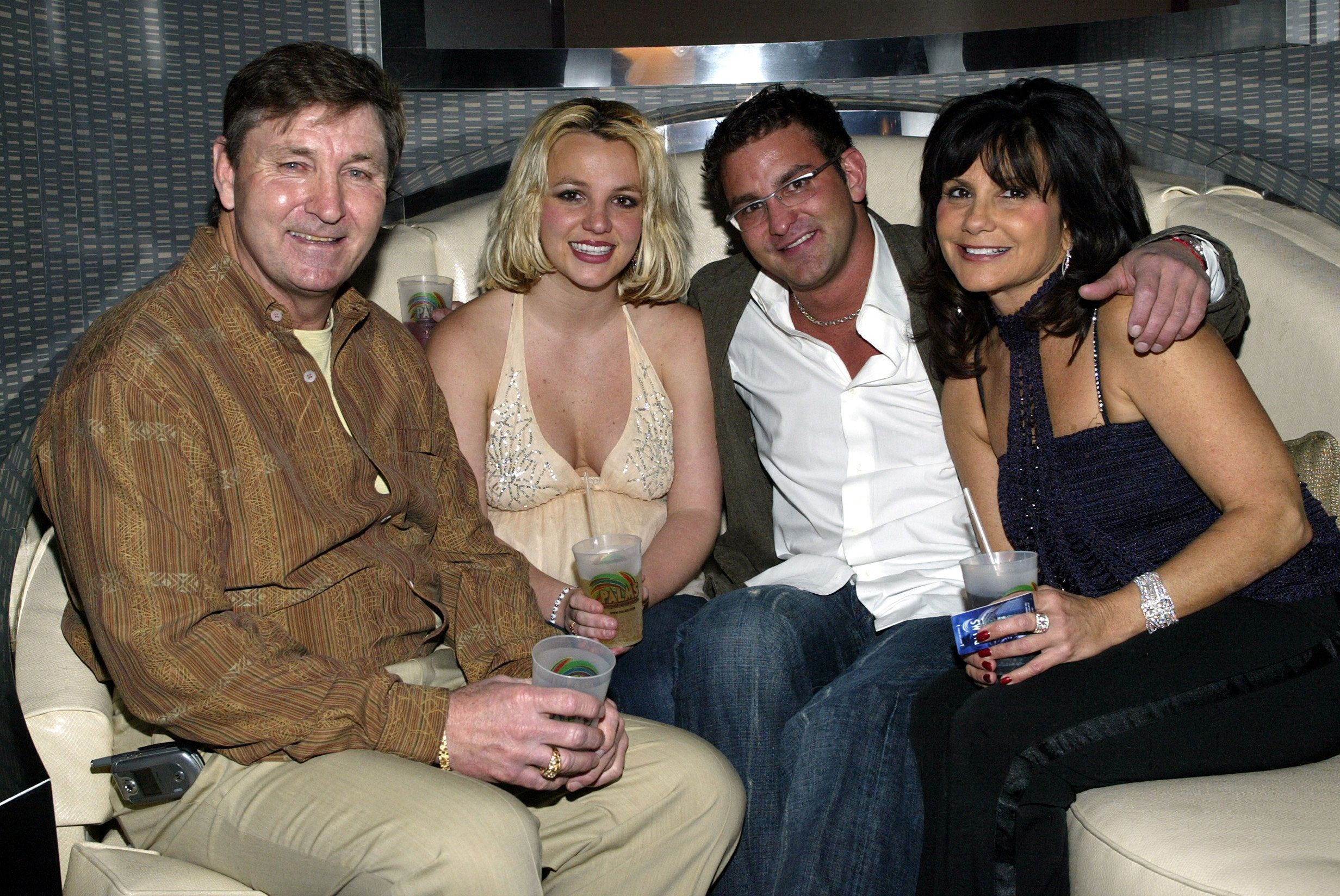 Britney Spears with her father Jamie, brother Bryan, and mother Lynne in 2006.