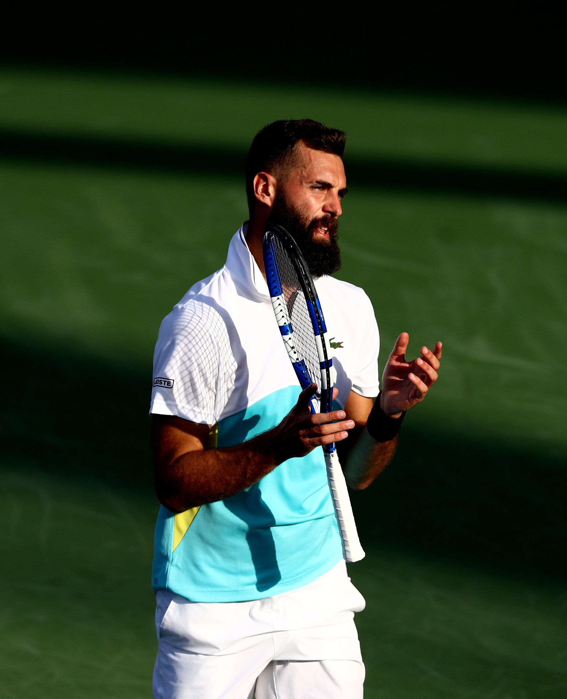 Benoit Paire (ici lors d'un tournoi à Dubaï en février 2020) a été testé...