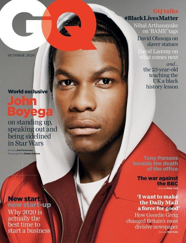 John Boyega on the cover of GQ.
