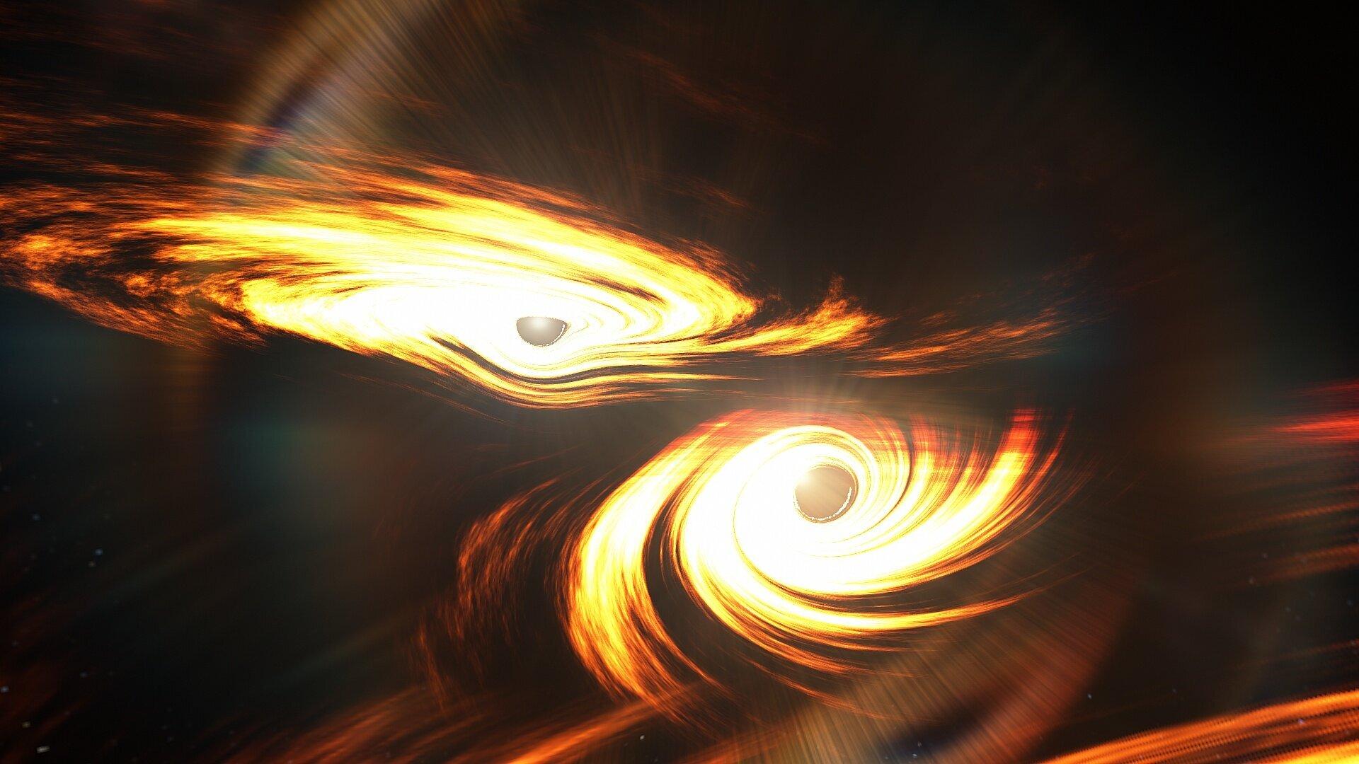 GW190521, la fusion la plus massive de deux trous noirs détectée par les ondes